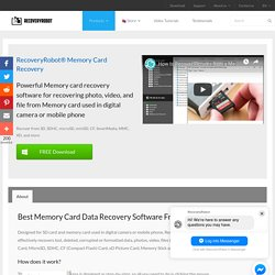 Best Memory Card Data Recovery Software Free Download [2019]
