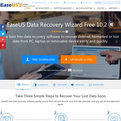 Free Data Recovery Software to free recover deleted files and recover formatted or corrupt hard drives - EASEUS Data Recovery Wizard Free Edition.