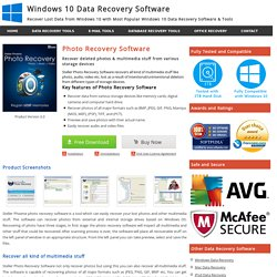 Photo Recovery Software to Recover Deleted Photos from Hard Drive