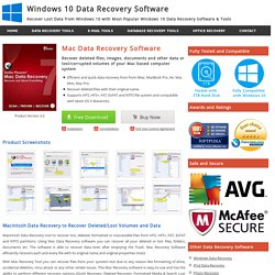 Mac Data Recovery Software to Recover Deleted Files from Mac Hard Drive