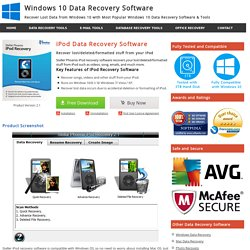 iPod Data Recovery Software to Recover Deleted/Corrupt Music, Video, Photo & Audio Files