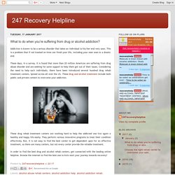 247 Recovery Helpline: What to do when you're suffering from drug or alcohol addiction?