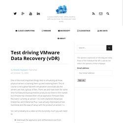 Test driving VMware Data Recovery (vDR) - theHyperadvisor