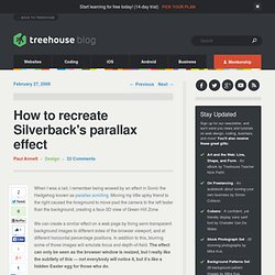 How to recreate Silverback's parallax effect