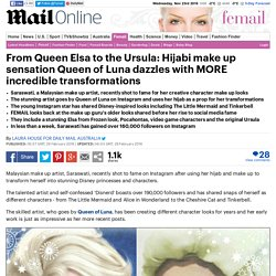 Queen of Luna recreated the make up looks of Elsa from Frozen and Ursula from the Little Mermaid before she was famous