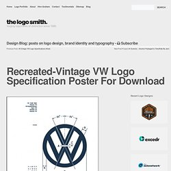 Recreated-Vintage VW Logo Specification Poster For Download