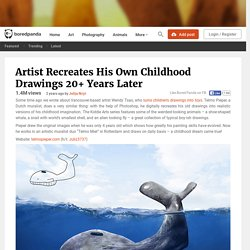 Artist Recreates His Own Childhood Drawings 20+ Years Later