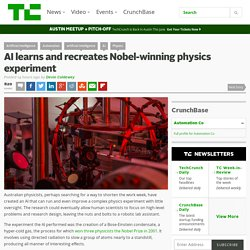 AI learns and recreates Nobel-winning physics experiment