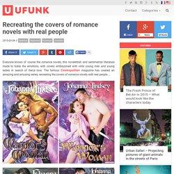 Recréer les couvertures des romans d'amour avec de vraies personnes