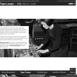 Tape Loops : Recreating the sounds of the BBC Radiophonic Workshop