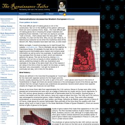 Recreating 16th and 17th Century Clothing: The Renaissance Tailor