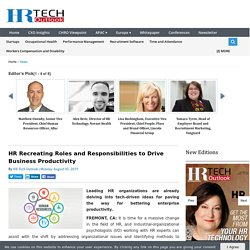 HR Recreating Roles and Responsibilities to Drive Business...