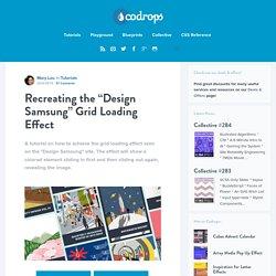 "Recreating the ""Design Samsung"" Grid Loading Effect"