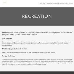 Recreation - First Baptist Church of Pensacola