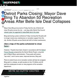 Detroit Parks Closing: Mayor Dave Bing To Abandon 50 Recreation Areas After Belle Isle Deal Collapses