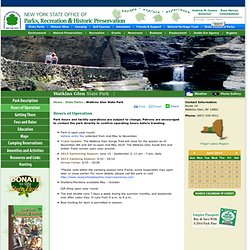 Watkins Glen State Park Hours of Operation - NYS Parks, Recreation & Historic Preservation