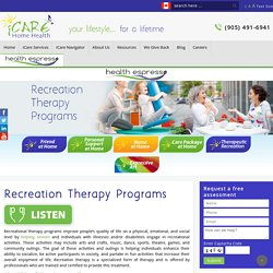 Recreation Therapy Programs
