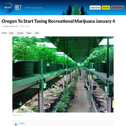 Oregon To Start Taxing Recreational Marijuana January 4