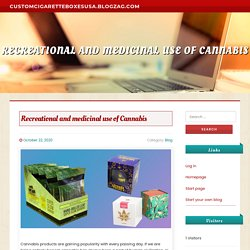 Recreational and medicinal use of Cannabis