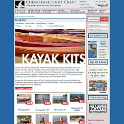 Chesapeake Kayaks, Shearwater Kayaks, Guillemot Kayaks, Wood Duck Kayaks, Pax Kayaks, Arctic Hawk Kayak Kits