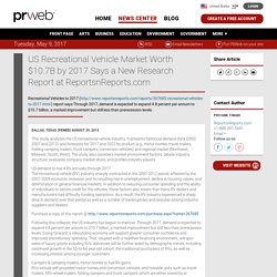 US Recreational Vehicle Market Worth $10.7B by 2017 Says a New Research Report at ReportsnReports.com