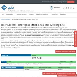 Recreational Therapist Email List