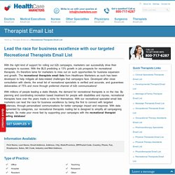 Recreational Therapists Email List, Mailing Addresses Database
