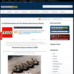 11 LEGO Recreations Of The World's Most Famous Photos « Website Design Blog: discussion, Inspiration and More…