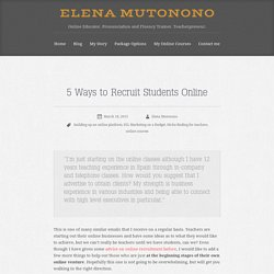 5 Ways to Recruit Students Online