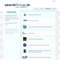 Associations for Executive Recruiters & Search Firms