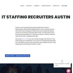 Top IT Recruiters in Austin