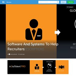Software And Systems To Help Recruiters