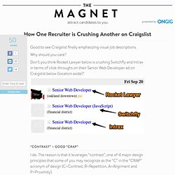 How One Recruiter is Crushing These Other Recruiters on Craigslist