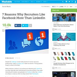 Why Recruiters Prefer Facebook for Recruiting Young Professionals