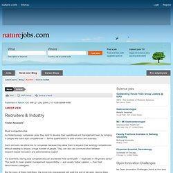 Naturejobs (2004): Dual competencies