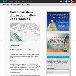 How Recruiters Judge Journalism Job Resumes