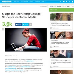 5 Tips for Recruiting College Students via Social Media
