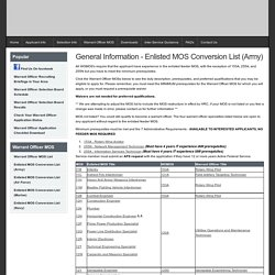U.S. Army Recruiting Command's Warrant Officer Recruiting Information Site