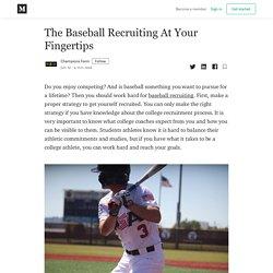 The Baseball Recruiting At Your Fingertips - Champions Farm - Medium