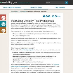 Recruiting Usability Test Participants