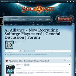 A1 Alliance - Now Recruiting Solforge Playtesters!