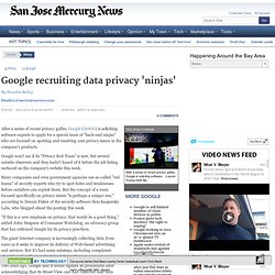 Google recruiting data privacy 'ninja'