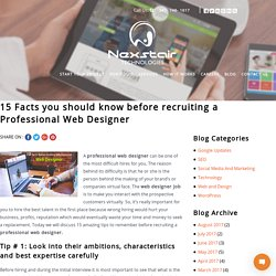 15 Facts To know before recruiting a Professional Web Designer – Nexstair
