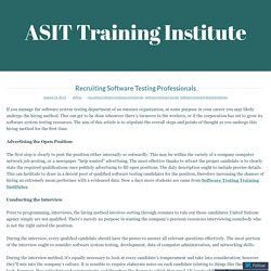 Recruiting Software Testing Professionals – ASIT Training Institute