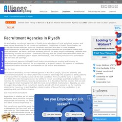 Recruitment Agencies in Riyadh, Saudi Arabia - Alliance Recruitment