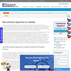 Recruitment Agencies in Jeddah, Saudi Arabia - Alliance Recruitment