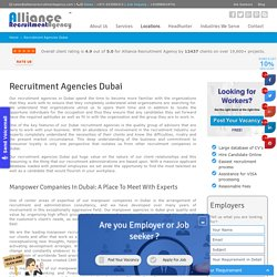 Recruitment Agencies In Dubai - Recruitment Companies in Dubai