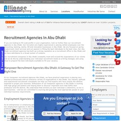 Recruitment Agencies In Abu Dhabi - Manpower Recruitment Agencies