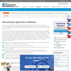 Recruitment Agencies in Bahrain - Manpower Agencies in Bahrain