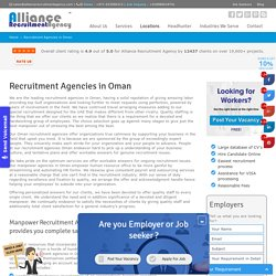 Recruitment Agencies in Oman – Manpower Agencies in Oman